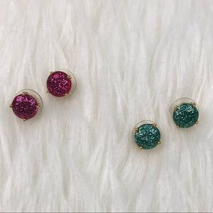 kate spade Jewelry - Kate Spade Sparkly Earrings - 2 Sets